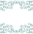Decorative vintage pattern text background vector image