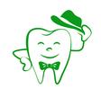 cartoon tooth logo vector image