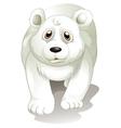 A giant white polar bear vector image vector image