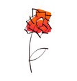 A rose vector image vector image