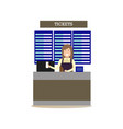 airport ticket agent in flat vector image vector image