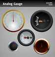 analog gauge icon vector image vector image
