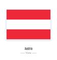Austria Flag Icon vector image vector image