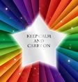 Bright rainbow celebration holiday banne keep calm vector image vector image