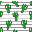 cactus seamless pattern modern fashion vector image vector image