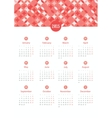 Calendar 12 months 2015 vector image vector image