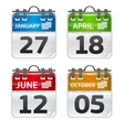 calendar set vector image