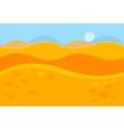 Cartoon Landscape of Yellow Desert Dunes for Game vector image vector image