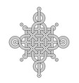 celtic knot - single chain - wand top ring sides vector image vector image
