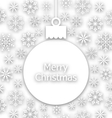 Christmas paper composition unusual greeting card vector image vector image