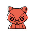 color surprised fox adorable wild animal vector image