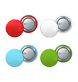 colorful badges on pin vector image