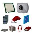 computer accessories headphones computer parts vector image vector image