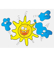 crazy sun vector image