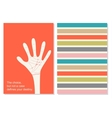 creative card with motivation quote Fate vector image