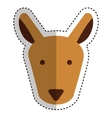 cute kangaroo character icon vector image vector image