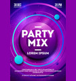 dance party night dj battle design template vector image vector image