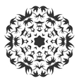Decorative round ornament Lace Silhouette of vector image