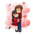 detailed flat of hugging vector image vector image
