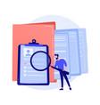 documentation management concept metaphor vector image vector image
