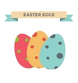 Easter eggs cartoon style vector image vector image