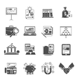 Finance Icon Black Set vector image vector image