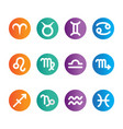 flat color horoscope icon set vector image vector image