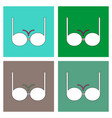 flat icon design collection sexy women brassiere vector image vector image