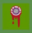 flat shading style icon halloween zombie eyes