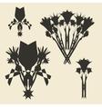 Flowers bouquet set Grunge design template vector image