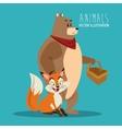 fox and bear design graphic animal vector image