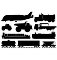 freight shipping set cargo shipping vehicle vector image vector image