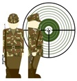 German snipers during the Second World War vector image vector image