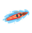 girl surfer character lying on surfboard vector image vector image