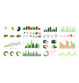 graphic charts infographic statistic bars and vector image