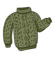 green knitted hipster sweater colorful doodle vector image