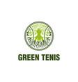 green tennis logo designs vector image vector image