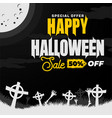 happy halloween sale banner or party invitation vector image