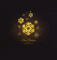 holiday new year card 3 vector image vector image