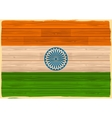 Indian Flag with wooden texture vector image vector image