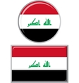 Iraqi round and square icon flag vector image