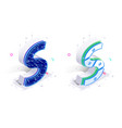 letters s with social networks elements vector image vector image