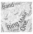 mens wedding bands Word Cloud Concept vector image vector image