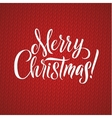 Merry Christmas Calligraphy Lettering Happy vector image