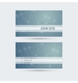Modern business card template with sparkling lines vector image vector image