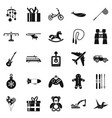 modern toy icons set simple style vector image vector image