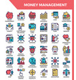 money management icons vector image vector image