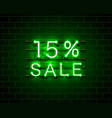 neon 15 sale text banner night sign vector image vector image