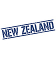 New Zealand blue square stamp vector image vector image