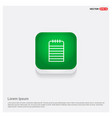note icon green web button vector image
